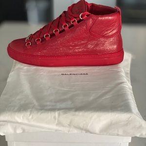 Balenciaga Men's Leather Sneakers Sz 43 Euro 10 US
